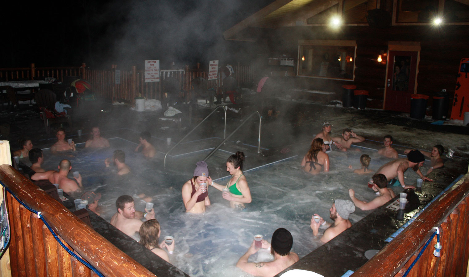 mount bohemia yoga resort hot tub