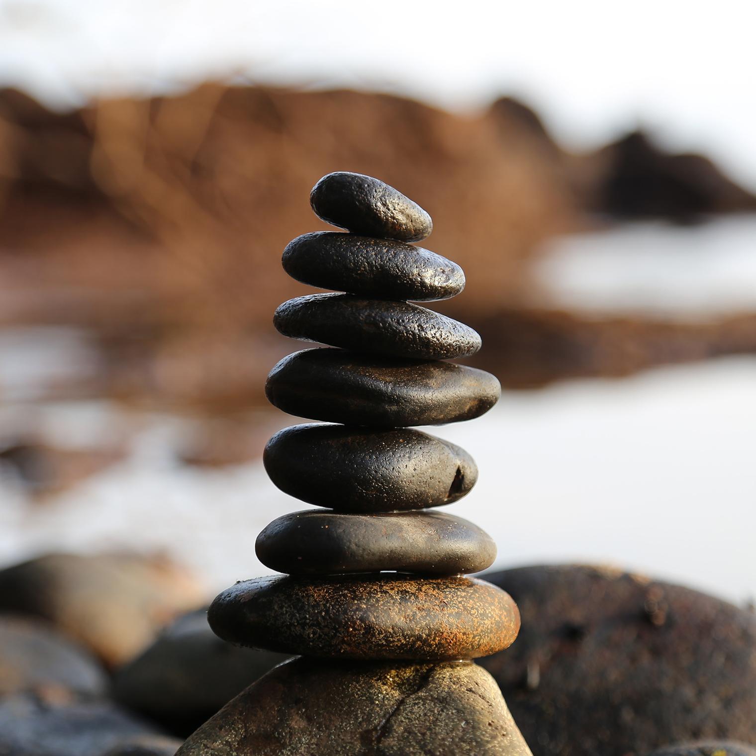 meditation balanced rocks